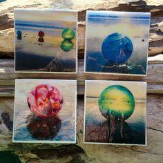 Oregon Coast Handmade Tile Coaster Japanese by LeftCoastOriginals