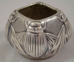 Louis Comfort Tiffany Collection Tiffany & Co Sterling Silver Beetle Scarab Vase | eBay
