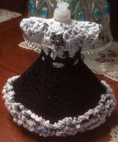 Crochet Dish Soap Bottle Dress ... Front view