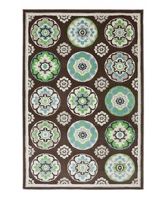 Take a look at this Brown Clover Leaf Outdoor Rug by Mohawk Home on #zulily today!