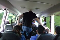 Duck on a bus Tall People Problems, Tall Guys, Funny, Frames, Funny Parenting, Hilarious, Fun, Humor
