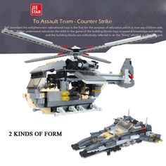 37.23$  Watch more here  - Military Counter Strike special force helicopter fighter 2in1 building block army soliders bricks compatible legoeinglys.toy