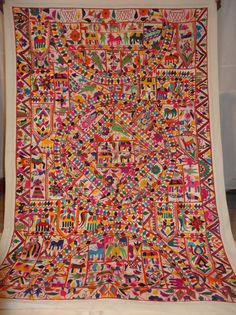 Decorative Indian Wall Hanging Tapestry With Embroidery & Patchwork #Handmade