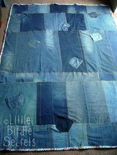denim picnic blanket quilt-along - part 3 | Little Birdie Secrets