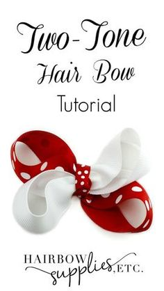 This video describes how to make a two tone hair bow! Simple, adorable hair bow! Great bow to match your favorite sports team!