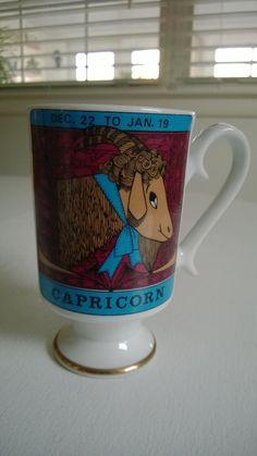 Vintage Capricorn Zodiac Mug by CassandrasNotebook on Etsy