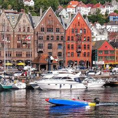 This is the historic Hansabryggen in Bergen.