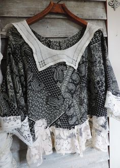 Gypsy Paisley Antique Shabby Lace Top http://www.victoriantailor.com/#!gypsy-bohemian-lace-clothing/c1hpk