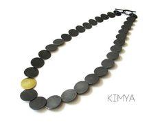 Oxidized Silver Necklace, Contemporary Necklace, Unusual Necklace, Unique Necklace, Articulated Necklace, Elegant Necklace, Simple Necklace