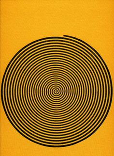 black & yellow Graphic Design Spiral