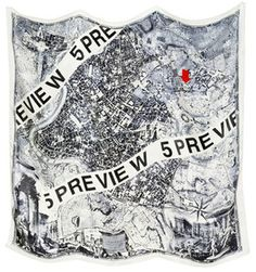 """Rome"" silk scarf, 5Preview."