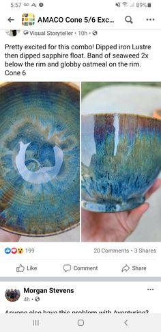 Glazes For Pottery, Pottery Mugs, Pottery Ideas, Ceramic Pottery, Amaco Glazes, Clay Studio, Clay Mugs, Pottery Classes, Kintsugi