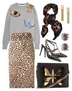 """""""Butterfly"""" by cherieaustin ❤ liked on Polyvore featuring Lanvin, Gucci, Alexander McQueen, Givenchy and Valentino"""