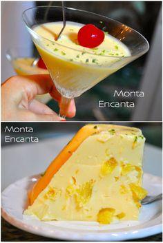 Gelado de Abacaxi com leite de coco, dá o toque especial, sabor dos Deuses, um toque de manjar que faz toda a diferença! Sobremesa do tempo da minha vó!