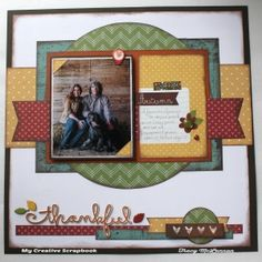 My Creative Scrapbook October Main Kit Simple Stories, Scrapbooking, Autumn, Fall