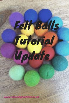 An update on my felt balls video tutorial - it's amazing how many views it's getting! There is a short list of ingredients required for making them. http://rachaelgreenland.co.uk/felt-balls-tutorial-update/