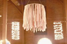 hanging ribbon chandelier
