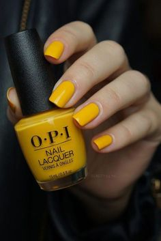 Trendy Yellow Nail Art Designs To Make You Stunning In Summer;Acrylic Or Gel Nails; French Or Coffin Nails; Matte Or Glitter Nails; Yellow Nail Polish, Yellow Nail Art, Nail Polish Colors, Polish Nails, Bright Summer Acrylic Nails, Summer Nails, Cute Nails, My Nails, Glitter Nails