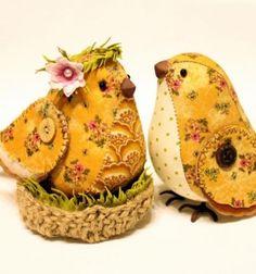 Aranyos és egyszerű textil madárkák (szabásmintával) / Mindy -  kreatív ötletek és dekorációk minden napra