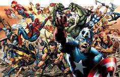 Marvel Heroes in full force