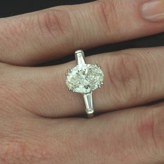 oval engagement ring tapered baguettes - Google Search
