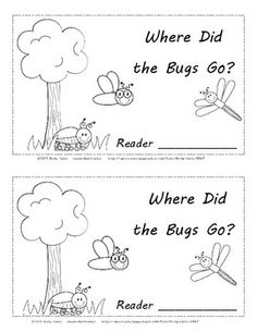 Bug & Insect Friends-Where Did the Bugs Go? Positional Words Cut and Paste Activity Reader. 12 Pages total, including title page. April Preschool, Kindergarten Science, Science Classroom, Transitional Kindergarten, Emergent Readers, Writing Words, Bugs And Insects, Childhood Education, Mini Books
