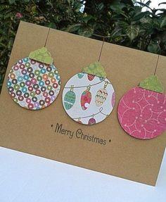 Resultado de imagen para tarjetas de navidad faciles de hacer