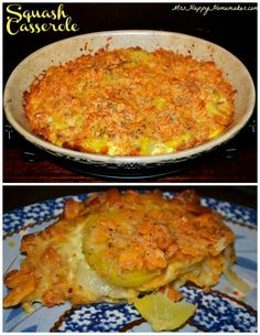 This is the BEST EVER Squash Casserole! The perfect blend of cheese & squash with a crunchy cheddar cracker topping. Maybe add cornflakes too Grilling Recipes, Cooking Recipes, Healthy Recipes, Fall Recipes, Yummy Recipes, Vegetable Side Dishes, Vegetable Recipes, Crookneck Squash Recipes, Yellow Squash Recipes