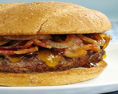 orgasmic lamb burger w/ bbq sauce recipe (totally planning to add some grilled pineapples to this! Lamb Burger Recipes, Lamb Recipes, Wrap Recipes, Sauce Recipes, Cooking Recipes, Cooking Tips, Paleo Burger, Sunday Recipes, Burger Bar
