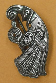 "Norse Raven. Says it's from Gotland. Trying to work out if it's a copy from one of the Gotland stones, or other artefacts, or just ""norse inspired"". Catalogue page: http://www.walhalla.com.pl/sklep/product_info.php?products_id=367=6ccd882f8c19"
