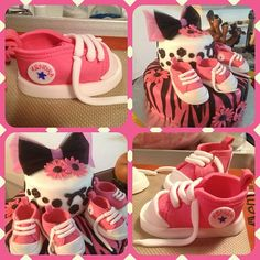 Baby Shower Converse Cake  By Ksh2911 CakesDecorcom