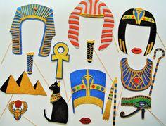 Máscaras photocall.  Estudio de la Historia en Educación Infantil. Egipto