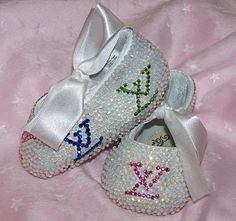Haha LV-Baby Bling Shoes : Rhinestone Baby Shoes : Crystal Baby Shoes