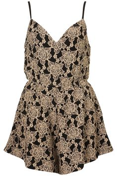 Topshop **TAPESTRY PLAYSUIT BY COCO'S FORTUNE