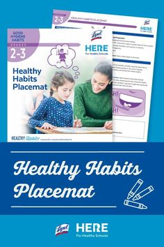 Healthy Habits Placemat—In this Grade 2-3 lesson, students will make a placemat to use at home that will serve as a reminder of the healthy steps they can take each day. #secondgrade #thirdgrade #health #healtheducation #education #learningathome #teaching #activities #printable Healthy Schools, Healthy Kids, Healthy Habits, Healthy Eating, Teaching Activities, Teaching Kids, Grade 2, Second Grade, Elementary Science