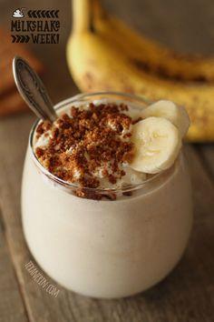 Healthy Banana Cream Pie Milkshake – with dairy-free, vegan, whole wheat, grain-free and gluten-free options!