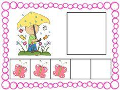 Five Frame Number Match 0-5 Math Center - Spring Themes