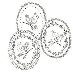 Bird Embroidery Pattern Set 3 Bird por teenytinyhappythings en Etsy