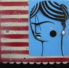 Dan withey     Blue Frida 4 - 2011 Dan, Snoopy, Artists, Blue, Fictional Characters, Fantasy Characters, Artist