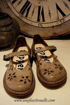 lovely cutwork leather flats