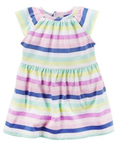 6f2c691636d6 Baby Girl Neon Striped Dress from Carters.com. Shop clothing  amp   accessories from