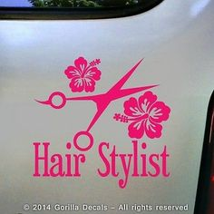 Stylin Vinyl Car Decal Cosmetology Hair Stylist Dresser Beauty - Hair stylist custom vinyl decals for car