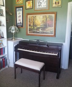 I really like the look of this 60 year old Poole Piano Co. spinet...
