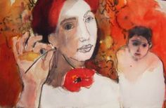"Saatchi Art Artist Fotini Hamidieli Martou; Drawing, ""the poppy"" #art"