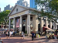 Boston - Quincy Market--caught a taxi from hotel and walked around in Quincy Market and had some Clam Chowder for dinner...fall 2013....slj