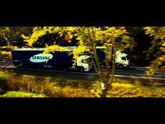 TV Bisbilhoteira Da Samsung Inovação² SAFETY Pinterest Tela - Samsung safety truck shows the road ahead so cars can safely pass