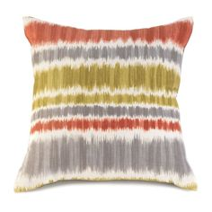 Warm Sun Striped Pillow