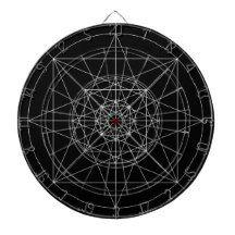 Third Dimensional Sacred Geometry Dart Boards