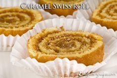 Caramel Swiss roll