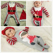 0-36M Baby Boys Girls Christmas Xmas Party Bodysuit Outfits Clothes Set(China (Mainland))